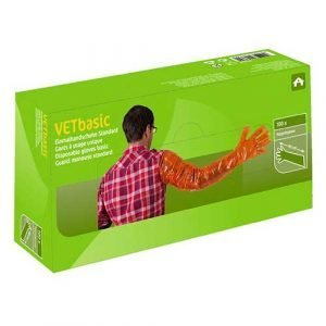 Disposable Arm Length Gloves VETBasic -100 Pieces